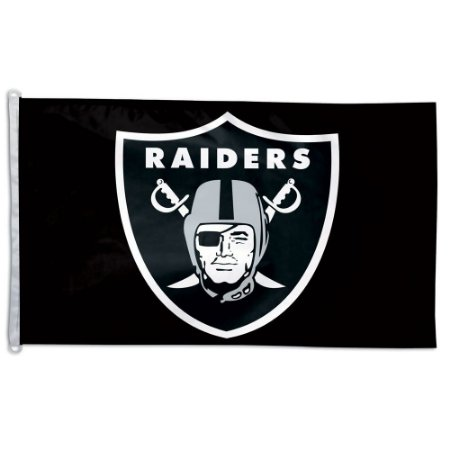 Bandeira Grande 90x150 NFL Oakland Raiders