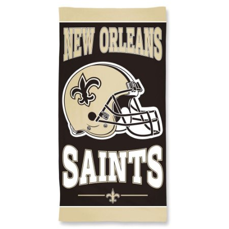 Toalha de Praia e Banho Standard New Orleans Saints