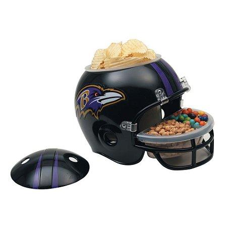 Capacete Snack Helmet Aperitivos GameDay Baltimore Ravens