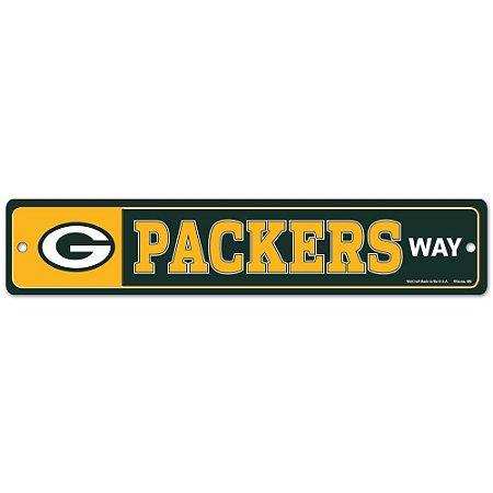 Placa Street Zone Decoração 48cm Green Bay Packers
