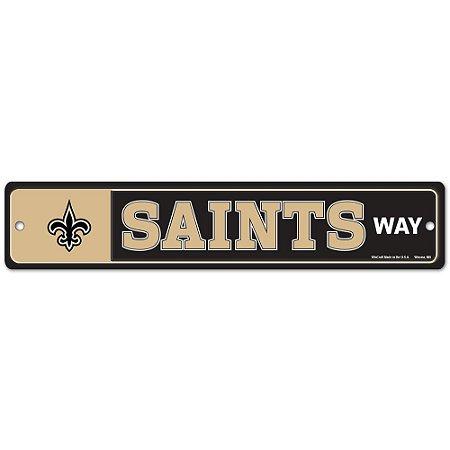 Placa Street Zone Decoração 48cm New Orleans Saints