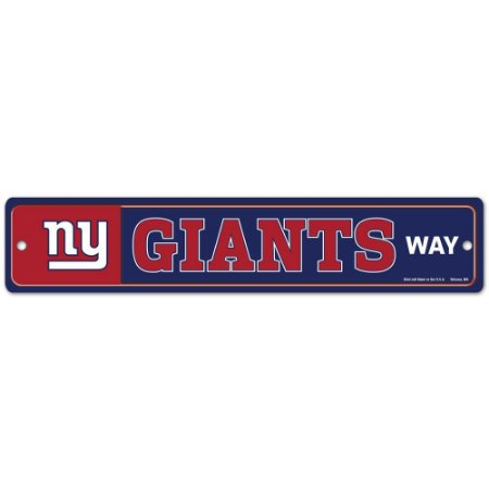 Placa Street Zone Decoração 48cm New York Giants