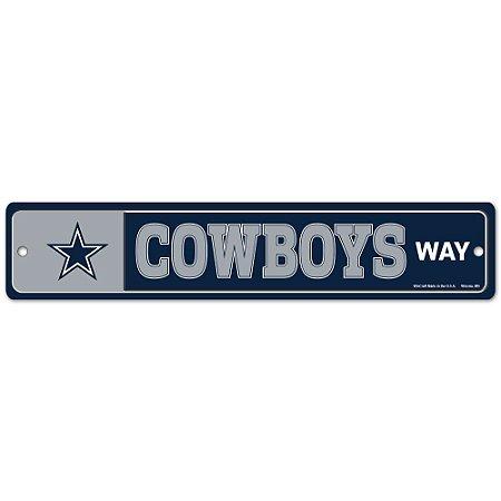 Placa Street Zone Decoração 48cm Dallas Cowboys
