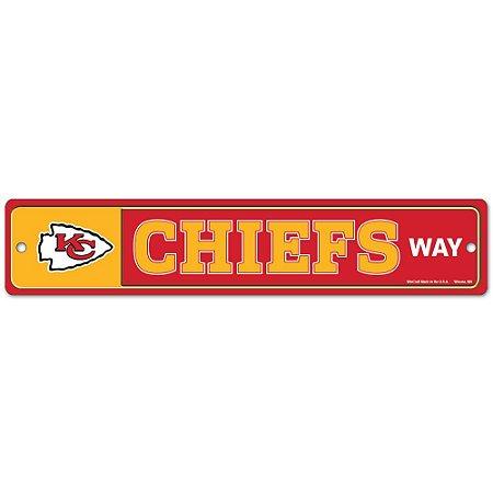 Placa Street Zone Decoração 48cm Kansas City Chiefs