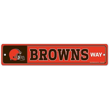 Placa Street Zone Decoração 48cm Cleveland Browns