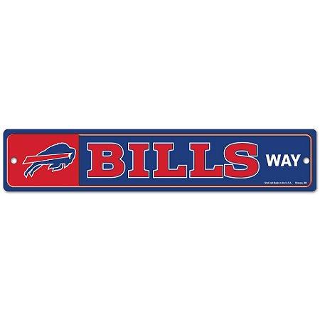 Placa Street Zone Decoração 48cm Buffalo Bills