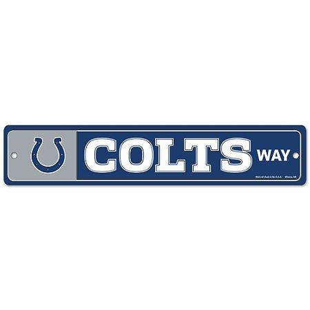 Placa Street Zone Decoração 48cm Indianapolis Colts