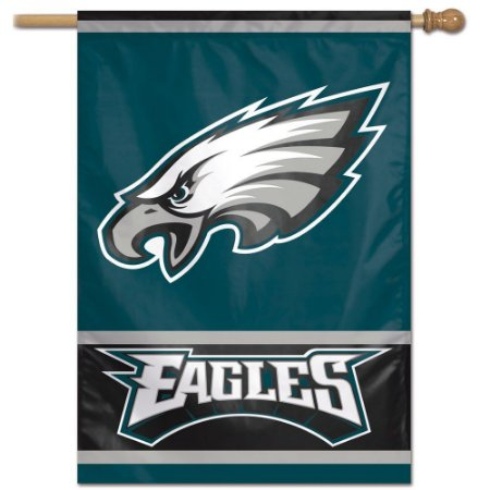 Bandeira Vertical 70x100 Logo Team Philadelphia Eagles