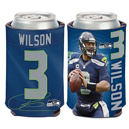 Porta Latinha Player Russel Wilson Seattle Seahawks