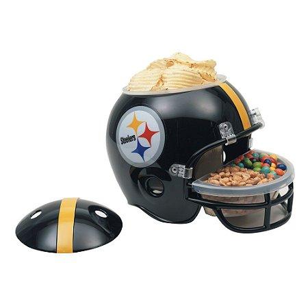 Capacete Snack Helmet Aperitivos GameDay Pittsburgh Steelers