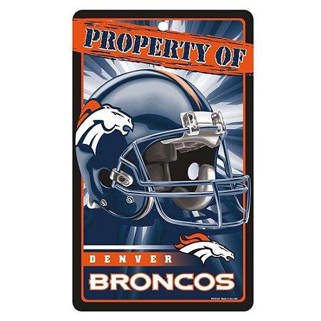 Placa Decorativa 18x30cm Denver Broncos NFL