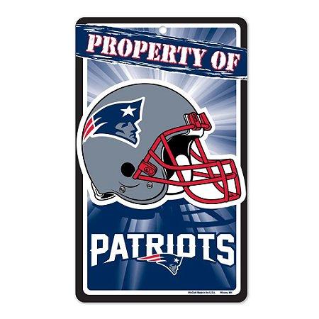 Placa Decorativa 18x30cm New England Patriots NFL