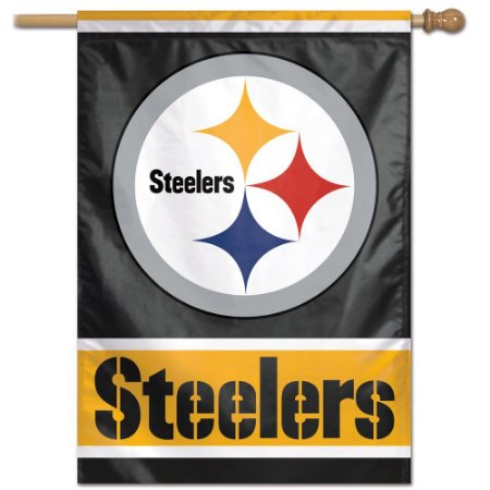 Bandeira Vertical 70x100 Logo Team Pittsburgh Steelers