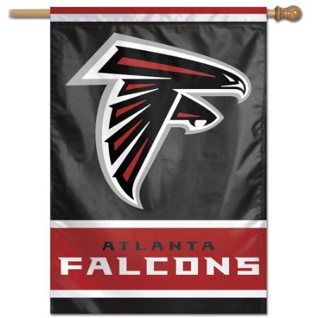 Bandeira Vertical 70x100 Logo Team Atlanta Falcons