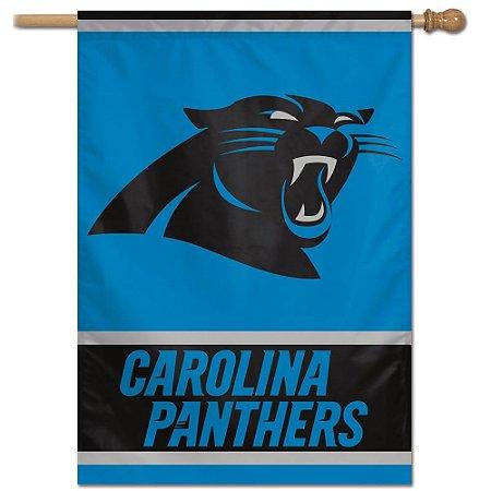 Bandeira Vertical 70x100 Logo Team Carolina Panthers