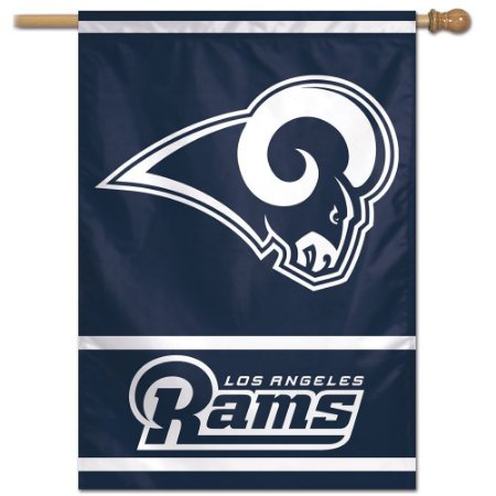 Bandeira Vertical 70x100 Logo Team Los Angeles Rams