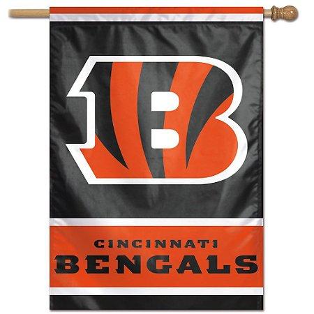 Bandeira Vertical 70x100 Logo Team Cincinnati Bengals