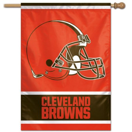 Bandeira Vertical 70x100 Logo Team Cleveland Browns