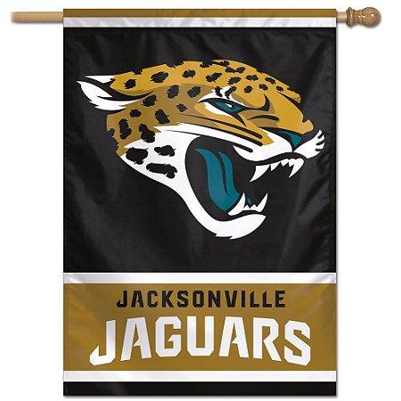 Bandeira Vertical 70x100 Logo Team Jacksonville Jaguars