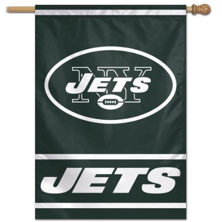 Bandeira Vertical 70x100 Logo Team New York Jets