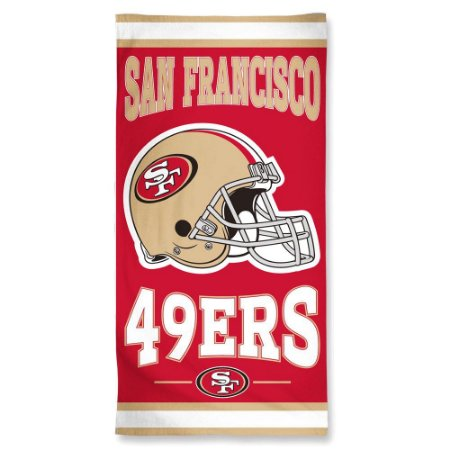 Toalha de Praia e Banho Standard San Francisco 49ers