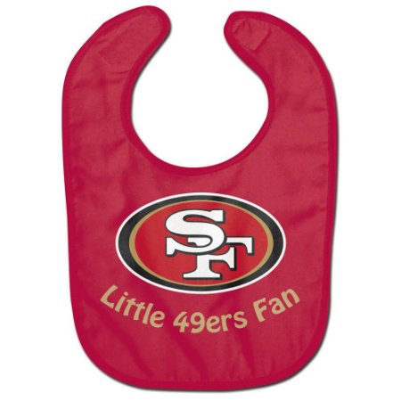Babador Infantil Pequeno Fã San Francisco 49ers