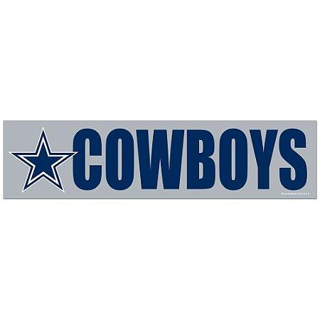 Adesivo Faixa Bumper Strip 30x7,5 Dallas Cowboys
