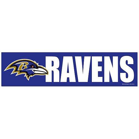 Adesivo Faixa Bumper Strip 30x7,5 Baltimore Ravens
