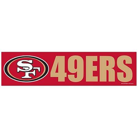 Adesivo Faixa Bumper Strip 30x7,5 San Francisco 49ers