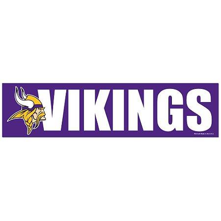 Adesivo Faixa Bumper Strip 30x7,5 Minnesota Vikings