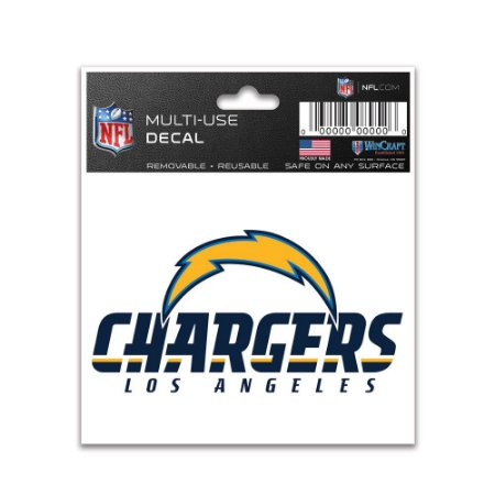 Adesivo Multi-Uso 8x10 NFL Los Angeles Chargers