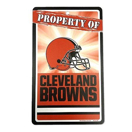Placa Decorativa 18x30cm Cleveland Browns NFL