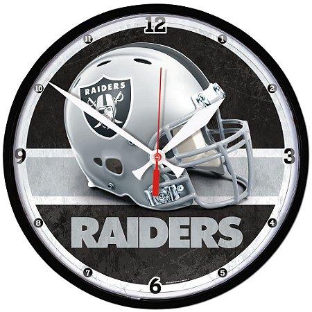 Relógio de Parede NFL Oakland Raiders 32cm