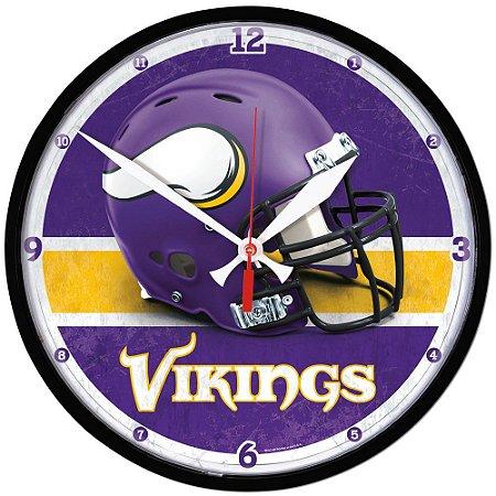 Relógio de Parede NFL Minnesota Vikings 32cm