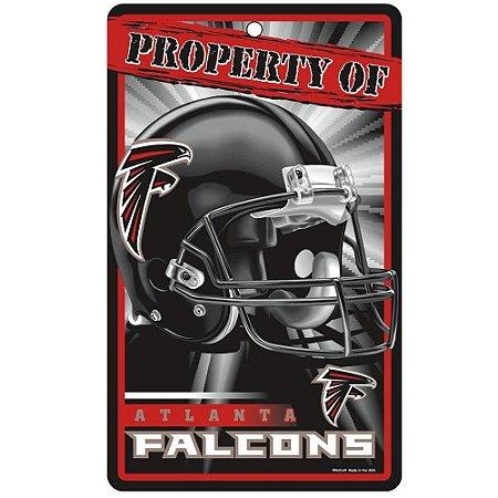 Placa Decorativa 18x30cm Atlanta Falcons NFL