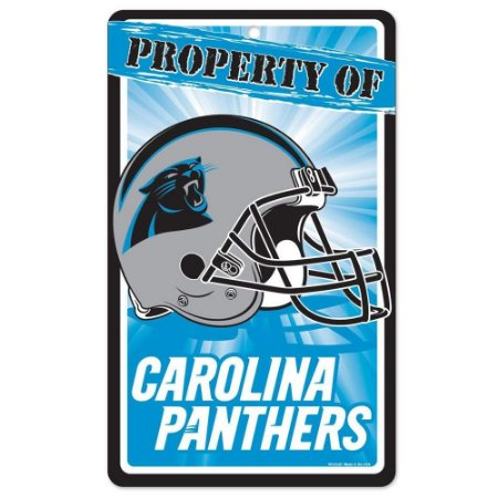 Placa Decorativa 18x30cm Carolina Panthers NFL