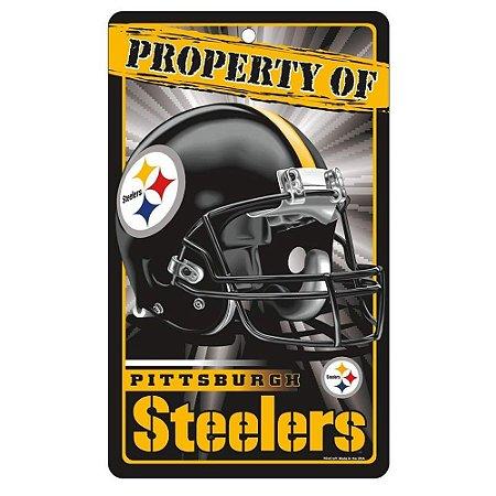 Placa Decorativa 18x30cm Pittsburgh Steelers NFL
