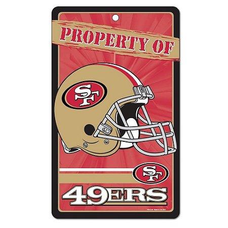 Placa Decorativa 18x30cm San Francisco 49ers NFL