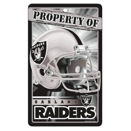 Placa Decorativa 18x30cm Oakland Raiders NFL