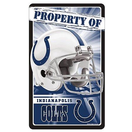 Placa Decorativa 18x30cm Indianapolis Colts NFL