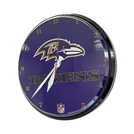 Relógio de Parede NFL Baltimore Ravens 32cm