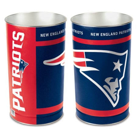 Cesto de Metal Wastebasket 38cm NFL New England Patriots