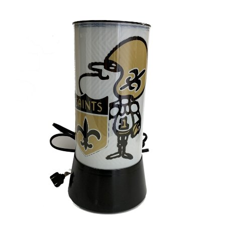 Luminária Rotativa 30cm 120V NFL New Orleans Saints