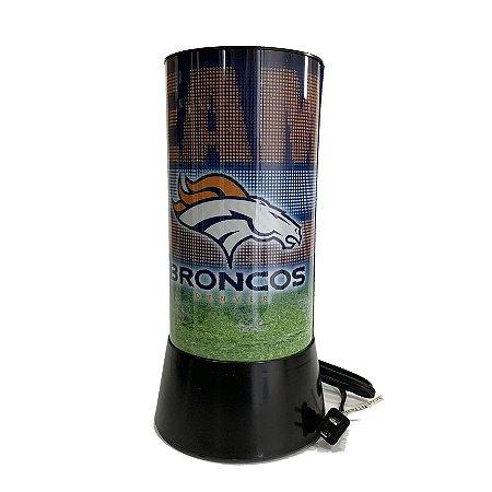Luminária Rotativa 30cm 120v NFL Denver Broncos