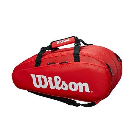 Raqueteira Wilson Esp Tour 2 Comp X9 Vermelha