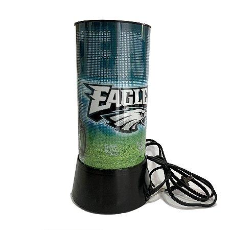 Luminária Rotativa 30cm NFL Philadelphia Eagles 120V