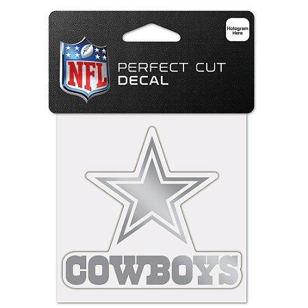 Adesivo Perfect Cut Decal Cromado NFL Dallas Cowboys