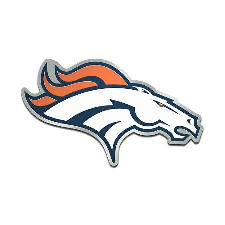 Auto Emblema Acrílico/Metal Denver Broncos NFL