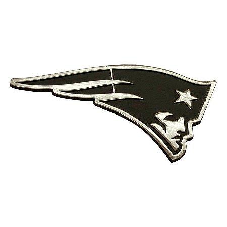 Auto Emblema Premium Metal Cromado New England Patriots NFL