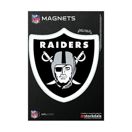 Imã Magnético Vinil 7x12cm Oakland Raiders NFL